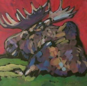 Moose At Rest