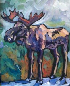 Moose On The Sidewalk