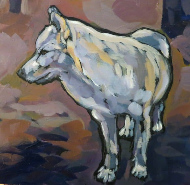White Wolf Standing